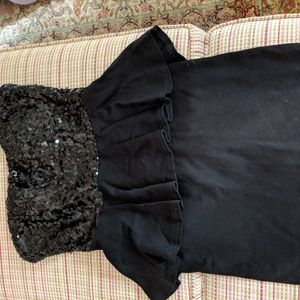 Black peplum dress XS Forever 21